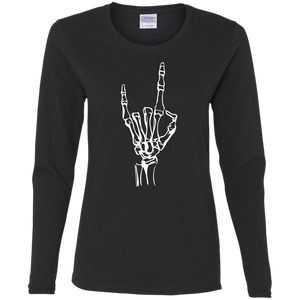 Black Devil Horns Ladies' Long Sleeve
