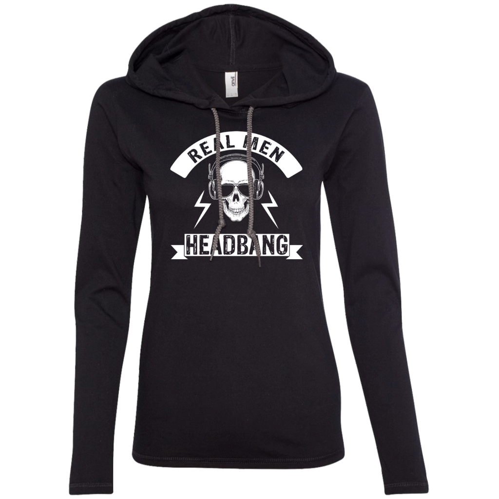 Real Men Ladies' Hooded Long Sleeve