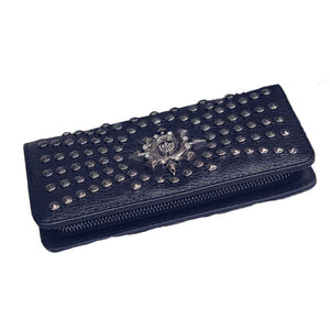 Leather Skull Clutch