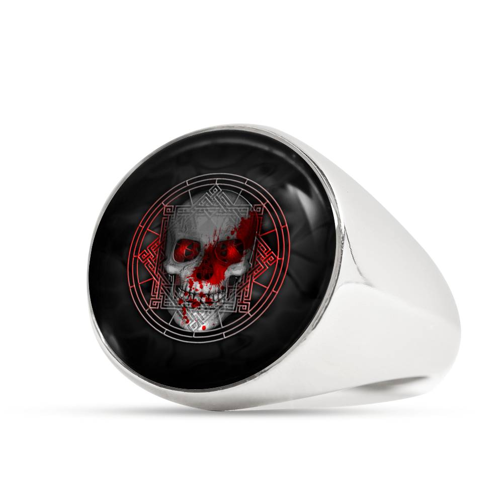 Blood Skull Ring