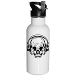 Skull and Headphones Water Bottle