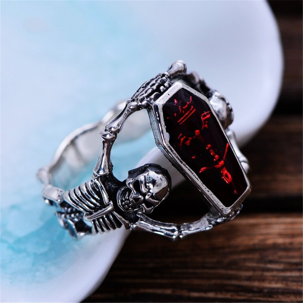 Skeleton Coffin Ring