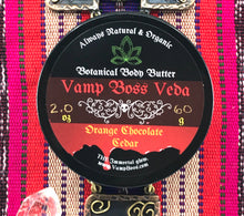 "Load image into Gallery viewer, Vamp Boss Luxury Body Butter ""Orange Chocolate Cedar"""