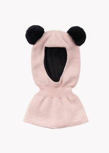 BALACLAVA BEANIE, Dusty Pink/Black