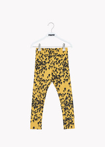 FOLD LEGGINGS, MINI BALLOON, YELLOW, BLACK