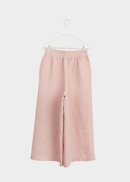 LINEN CULOTTES, Muted Red, Women