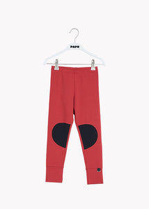 PATCH LEGGINGS, REVOLUTION RED, BLACK