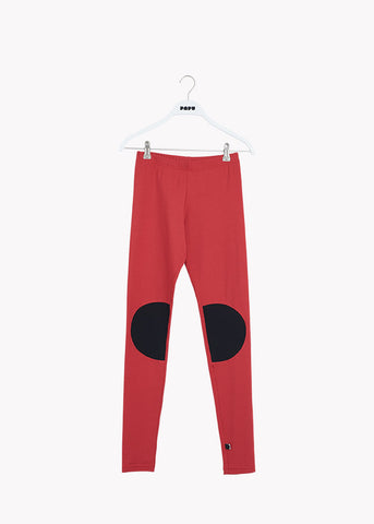 PATCH LEGGINGS, REVOLUTION RED / BLACK, Adults