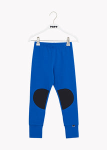 PATCH LEGGINGS, VIVID BLUE / BLACK