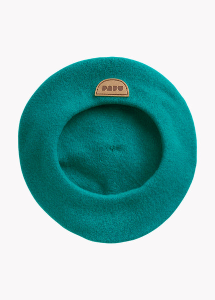 POM POM BERET, OCEAN GREEN, Adults