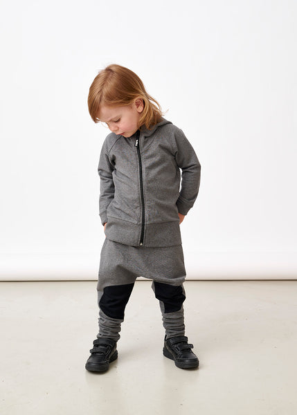Papu kid's patch baggy pants melange grey