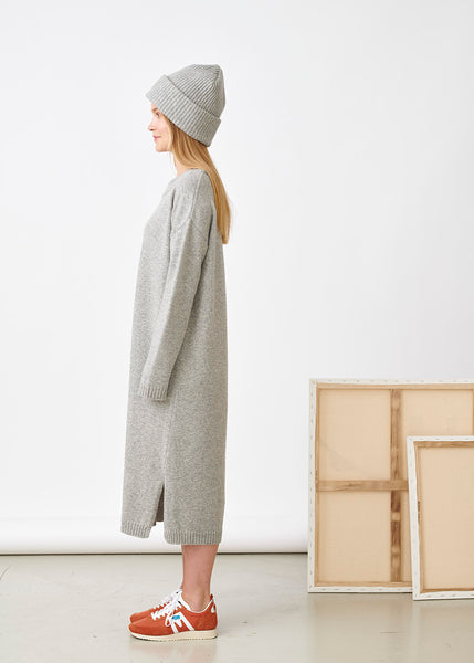 SOFT WOOL DRESS, Melange Grey, Women