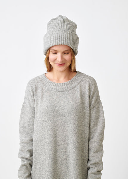 GIANT BEANIE, Melange Grey, Women