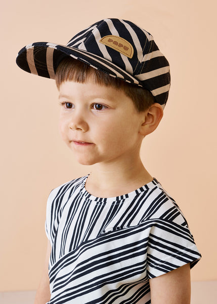 CAP, Diagonal Stripe, Black/Silent Grey