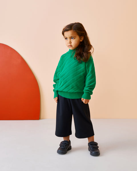 Papu Kid's black lyocell culottes pants