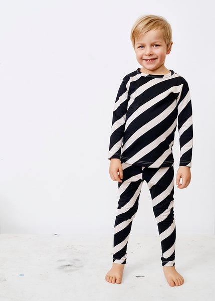 Papu kid's mellow suit stripe leggings shirt