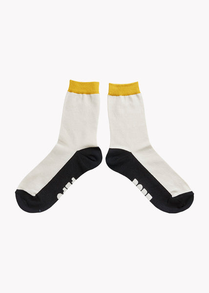 SOCKS, BLACK, OCHRE, CREAM / DOUBLE PACK, Adults