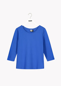 3/4 SLEEVE SHIRT, Vivid Blue, Women