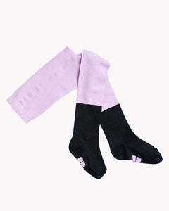 TIGHTS, Bloom Lilac/Black