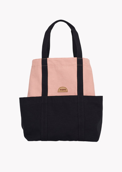 TOTE, POWDER PEACH, BLACK