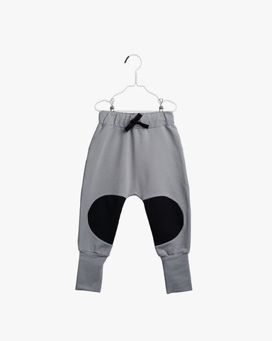 Papu kid's patch baggy pants stone grey