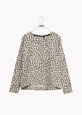 GIANT SWEATSHIRT, Grain, Women