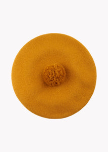 POM POM BERET, Earth Brown, Women
