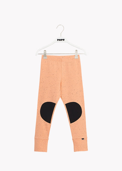 PATCH LEGGINGS, Cantaloupe Red/Black