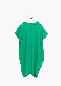 LINEN DRESS, Loud Green, Adults
