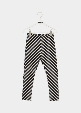 STRIPE LEGGINGS, BLACK / SAND