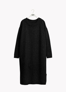 SOFT WOOL DRESS, Black, Women