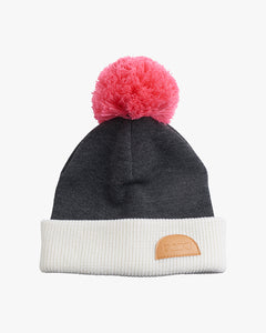 MULTICOLOR WOOL BEANIE, Off-white/Grey/Pink, Adults