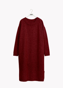 SOFT WOOL DRESS, Red, Women