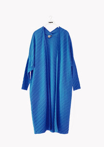 LONG CARDIGAN, Structure Knit, Vivid Blue, Women