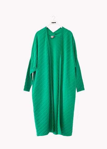 LONG CARDIGAN, Structure Knit, Loud Green, Women