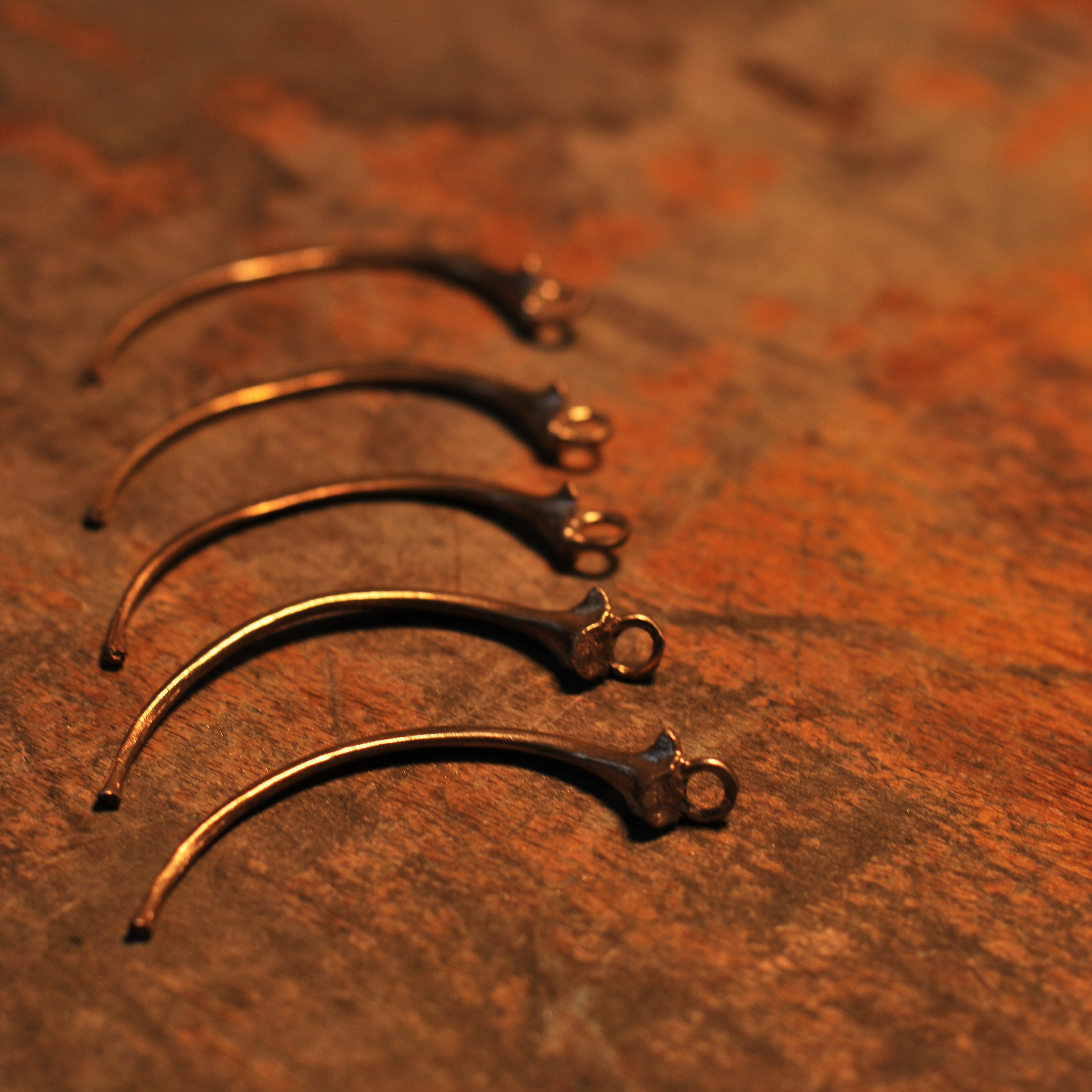 Manasa Earrings ~ Anaconda Bones
