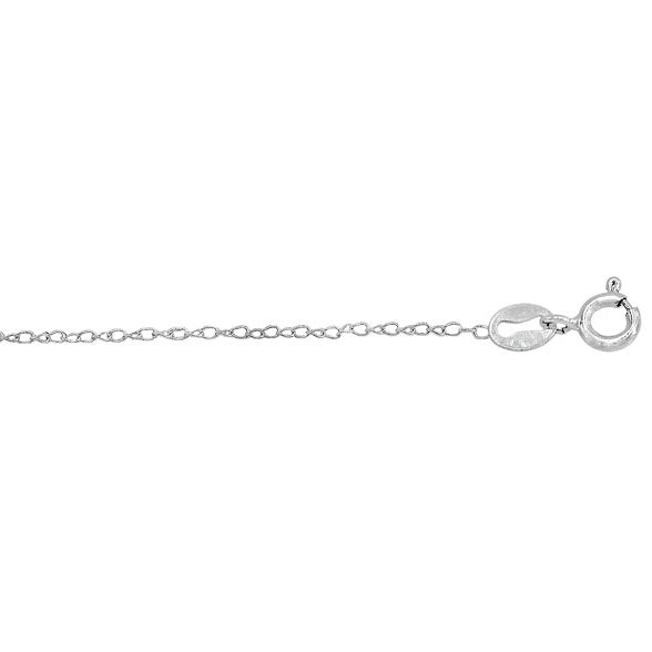 Twisted Oval Link Sterling Silver Chain