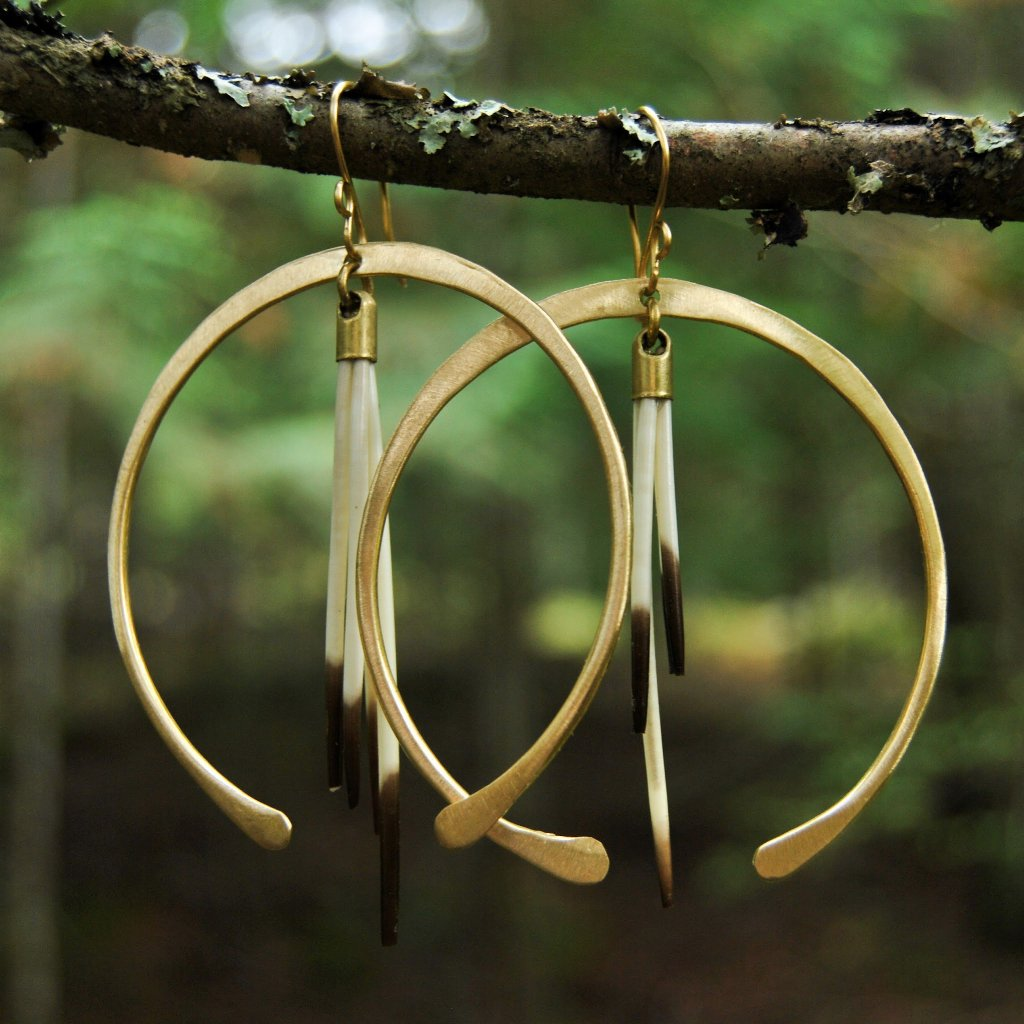 Horseshoe Crescent Quill Hoops