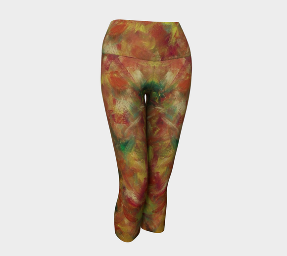 Autumn Leaves Yoga Capris