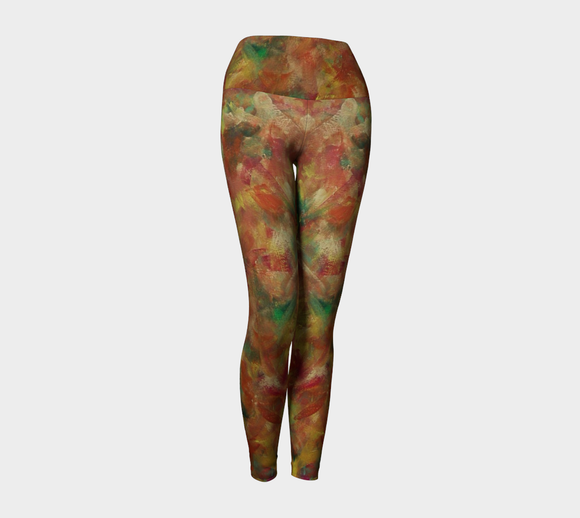 Autumn Leaves Yoga Leggings