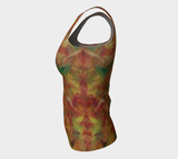Autumn Leaves Fitted Tank Top