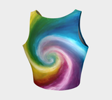 Spiral Rainbow Crop Top