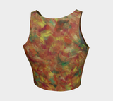 Autumn Leaves Athletic Crop Top