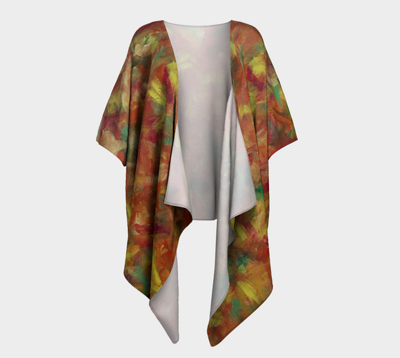 Autumn Leaves Draped Kimono