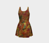 Autumn Leaves Flared Dress