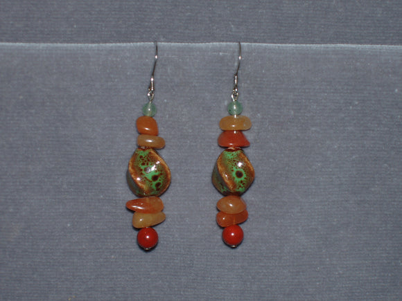 Ceramic Twist Earrings