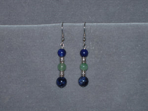 Ocean of Blue and Green Earrings