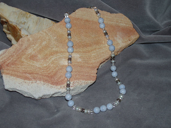 Bluelace Agate Necklace