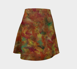 Autumn Leaves Flared Skirt