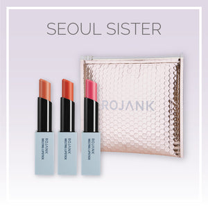 Seoul Sister Glossy Hydrating Sheer Satin Lipstick Gift Set - 3 Pack